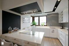 DOM W FALENTACH - Średnia otwarta kuchnia w kształcie litery g w aneksie, styl skandynawski - zdjęcie od 3deko