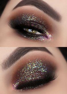 Glitter Face, Glam And Glitter, Glitter Makeup, Glam Makeup, Skin Makeup, Beauty Makeup, Glitter Outfit, Glitter Fashion, Sparkles Glitter