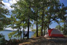 Camping at Hawker Point, Stockton Lake, Missouri by Ozarks Walkabout
