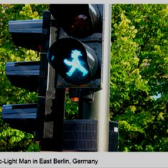 Ampelman traffic light in East Berlin