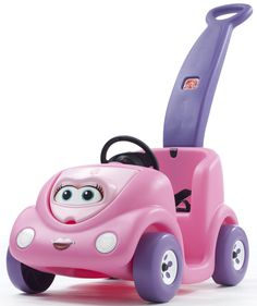 Features:  -Made in the USA.  -Color: Pink.  -Wagon & Riding Toys collection.  Product Type: -Car and truck.  Color: -Pink.  Primary Material: -Plastic.  Wheels Included: -Yes.  Age Group: -2 Years.