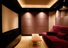 Low budget but yet elegant home theater set up.