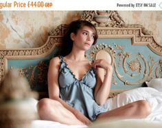 SALE Lingerie Set Babydoll / Panty Organic Cotton and by luvahuva