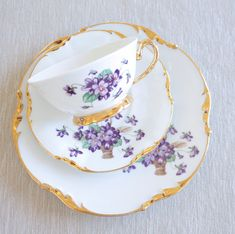 Limoges Teacup & Cake Plate Trio by BeyondTheBrocante on Etsy