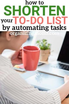 How to shorten your to do list by automating home management tasks. Ideas for saving time and money on homekeeping and home management tasks. Eliminate the most time-consuming tasks and free up hours in your schedule each week! Home Management, Time Management Tips, Home Renovation, Clean House Schedule, Organized Mom, Education Humor, Homekeeping, Life Organization, Organizing Ideas