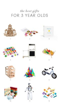 The best gifts for 3 year olds - you can't go wrong with anything from this list of awesome books, toys, puzzles and games for three year old boys and girls
