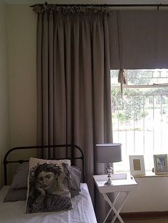Curtains - View Lead - Home Fabrics  Petersham Ribbon from ebony and Ivory  Design Team fabric on cushion Work for client E Muller in 2012