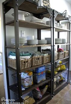 7 ways to create pantry and kitchen storage, closet, kitchen design, shelving ideas, storage ideas, Open kitchen storage works if you don t have a pantry