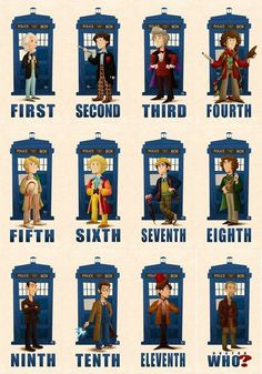 Doctor Who thru the ages