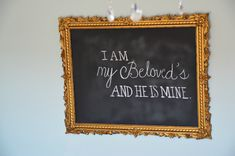 Inexpensive chalkboard (hint: use foam board!) with my favorite quote!