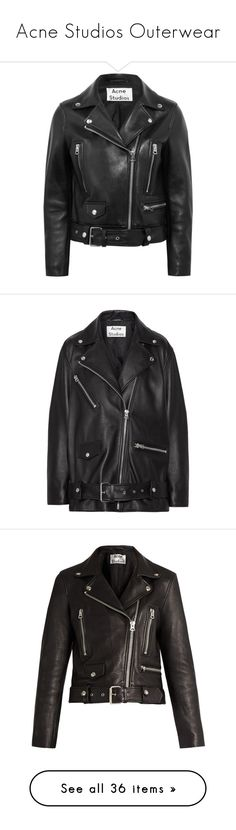 """""""Acne Studios Outerwear"""" by cecilialukas ❤ liked on Polyvore featuring outerwear, jackets, acne, coats & jackets, leather jacket, genuine leather biker jacket, slim leather jacket, slim motorcycle jacket, rider leather jacket and leather jackets"""