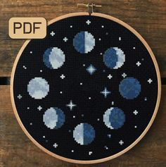 Moon Phases Cross Stitch Pattern Pdf - Welcome to our website, We hope you are satisfied with the content we offer. Modern Cross Stitch Patterns, Cross Stitch Charts, Cross Stitch Designs, Cross Stitch Moon, Beginner Cross Stitch Patterns Free, Easy Cross Stitch, Cross Stitching, Cross Stitch Embroidery, Embroidery Art