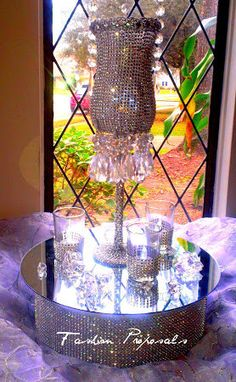 Wedding Bling and Crystal Chandelier Centerpiece