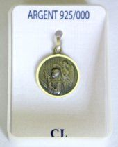 Saint Rita of Cascia Medal 16 mm. St Rita Of Cascia, Prayer Cards, All Saints, 925 Silver, Pendants, Gold, All Saints Day, Trailers, Pendant