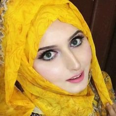 Beautiful yellow hijab