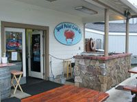In Bodega Bay.  Take an order to go and have a picnic on the cliff's edge at Bodega Bay to look for whales.