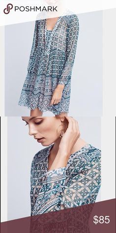 """Anthropologie Maeve Canna Swing Dress IRL coming soon! Cotton, rayon; rayon lining A-line silhouette Pullover styling Hand wash Imported Style No. 4130089178760 Dimensions Falls 35.5"""" from shoulder Anthropologie Dresses"""