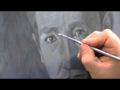 Painting a portrait using a grisaille (grey tone underpainting) - YouTube