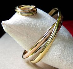 Yssie's Cartier 18K Trinity Bracelet and Ring Set - image by Yssie