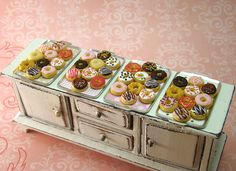 Miniature doughnut collection. I've always wanted a bakery miniature... maybe someday