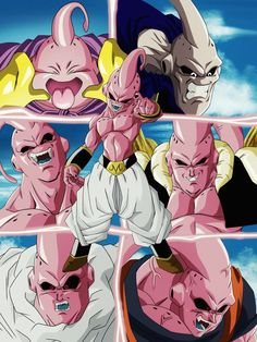 Majin Boo y sus fases by nickspekter ♥️🤘 Buu Dbz, Tattoos Anime, Foto Do Goku, Dbz Wallpapers, Super Vegeta, Ball Drawing, Manga Covers, Dragon Ball Gt, Dragon Z