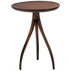 Bring lasting charm to your home decor with this stylish design.   Product: End tableConstruction Material: WoodColor: WalnutDimensions: 24.5 H x 18 Diameter