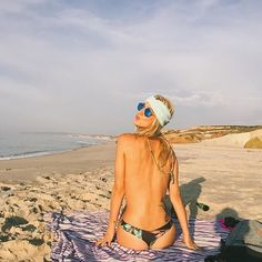 Dreaming of beach days with this babe  @blovebutler in The Camatkara Scarf Turban perfect for European beach lounges... Oh and every day life  Shop via link in bio // #BabesInBands #Wanderlust #Peniche #BeachLife #Portugal #Babe #Daydream #Headband #HairAccessories #ScarfTurban #YogaBod #Festival #Coachella #Europe #Goddess #GetWithTheBand #ImWithTheBandHeabands
