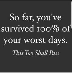 This too shall pass.  Please never never give up on life