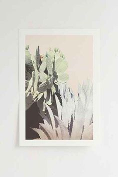Wilder California Agave And Prickly Pear Art Print - Urban Outfitters