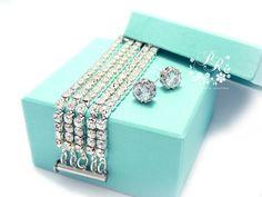 Bridesmaid set of 2 to 5 Bracelet Earrings by PureRainDesigns, $70.00