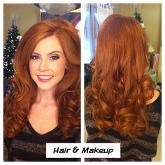 hair and makeup by Verde Beauty Studio #beauty #smokeyeyes #makeup #redhead
