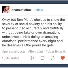 Ben is such an amazing actor like I cannot believE