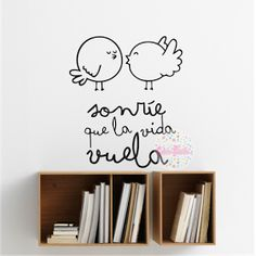 vinilo decorativo frase sonrie que la vida vuela 3d Wall Art, Chalk Art, My Room, Wall Stickers, Fall Decor, Sweet Home, Clip Art, Room Decor, Lettering