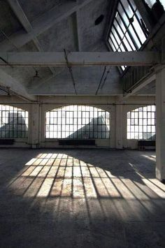 + #factory_floor #light #sun #shadow #concrete #windows #studio