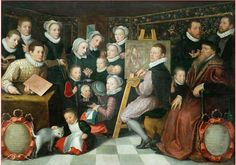 Otto van Veen, The painter and his family 1584, Paris Louvre