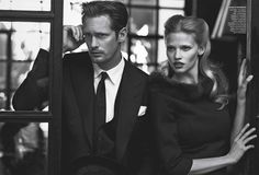 suitupplease:    Alexander Skarsgard and Lara Stone for Vogue (July 11)