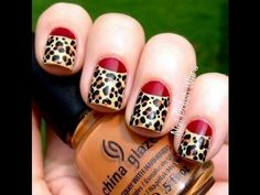 Red Leopard Nail Art Design For more fashion inspiration visit www.finditforweddings.com Nails