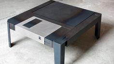 La table basse disquette !