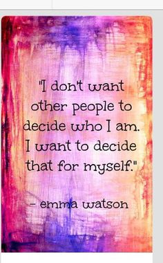 Be your own person
