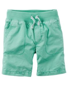 Kid Boy Pull-On Twill Shorts | Carter's OshKosh Canada