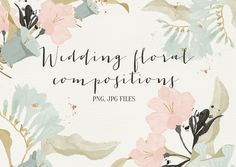 Wedding floral compositions by Webvilla on Creative Market