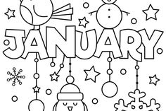 january coloring pages   Start the New Year with a January Coloring ...