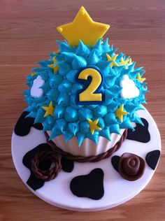 Toy Story Themed Giant Cupcake