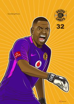 Iwisa Kaizer Chiefs Players_Poster Collection_Itumeleng Khune Kaizer Chiefs, Soccer, Football, 4 Life, Movies, Collection, Illustration, Design, Hs Sports