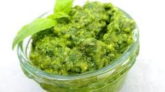 Image result for Pictures of basil pesto Basil Pesto, Guacamole, Ethnic Recipes, Pictures, Image, Food, Photos, Essen, Meals