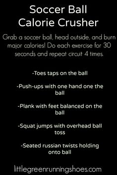 Soccer Ball Workout