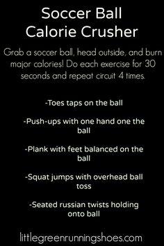 Soccer Ball Workout Calorie Crusher