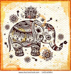 Ethnic elephant illustration can be used as a greeting card by Transia Design, via Shutterstock