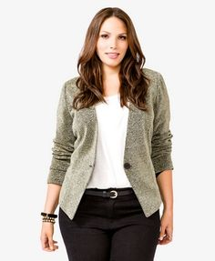 Metallic Knit Blazer  $29.80