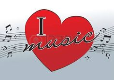 I love music Stock Vector